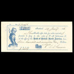 Canada, Bank of British North America, 919 dollars, 74 cents <br /> January 29, 1861