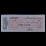 Canada, Ontario Bank, 63 dollars, 80 cents <br /> July 5, 1861