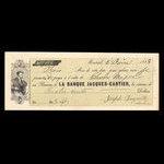 Canada, Banque Jacques-Cartier, 400 dollars <br /> June 5, 1868