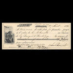 Canada, Banque d'Hochelaga, 98 dollars, 30 cents <br /> August 11, 1890