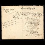 England, Hudson's Bay Company, 30 pounds <br /> May 12, 1690