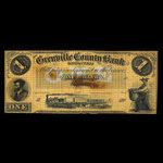 Canada, Grenville County Bank, 1 dollar <br /> 1856