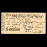 Canada, Bank of British North America, 50 dollars <br /> May 18, 1868