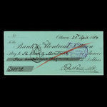 Canada, Bank of Montreal, 139 dollars, 29 cents <br /> April 23, 1884