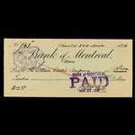 Canada, Bank of Montreal, 12 dollars, 98 cents <br /> March 25, 1896