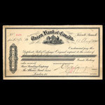 Canada, Union Bank of Canada (The), 39 pounds <br /> August 11, 1894