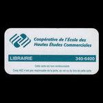 Canada, Coopérative de l'École des Hautes Études Commerciales, no denomination <br /> 2003