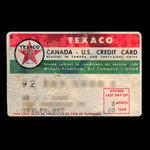 Canada, Texaco Inc., no denomination <br /> March 1959
