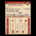 Canada, British American Oil Company Limited, no denomination <br /> 1951