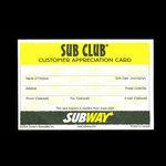 Canada, Subway Restaurant <br /> 2004