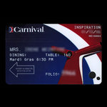 United States of America, Carnival Cruise Lines, no denomination <br /> January 12, 2006