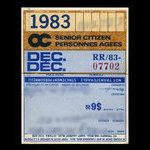 Canada, OC Transpo, 1 month, seniors <br /> December 1, 1983