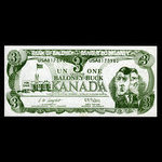 Canada, unknown, 1 dollar <br /> 1993