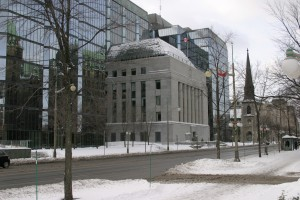 View of the Bank of Canada from Wellington St.