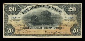 Northern Bank (1905-1908), 1 November 1905, 20 dollars, issued note / Northern Bank (1905 1908), 1er novembre 1905, 20 dollars, billet émis
