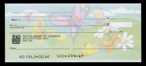 Cheque with Easter motif from the Royal Bank of Canada