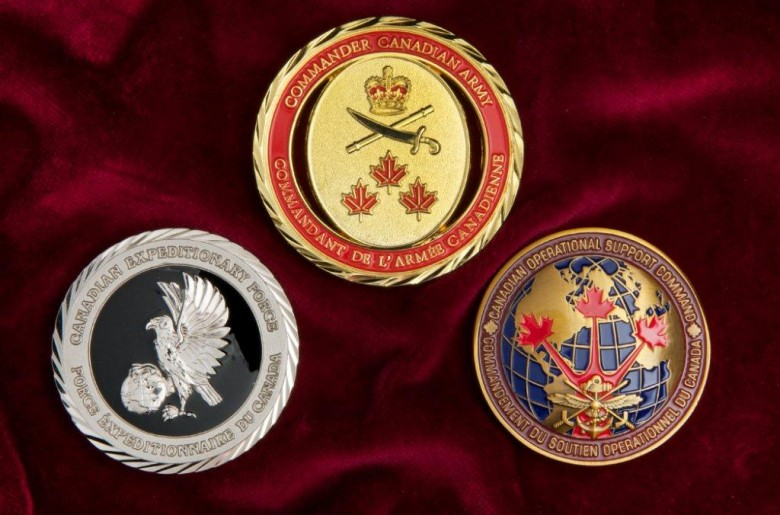 Command Coins for the Canadian Armed Forces
