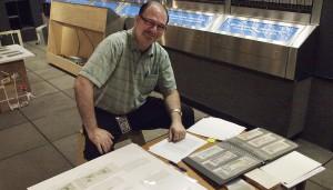 Curator Paul Berry files bills away