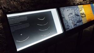 Artifact display cases and information light boxes / Présentoirs et caissons lumineux informatifs