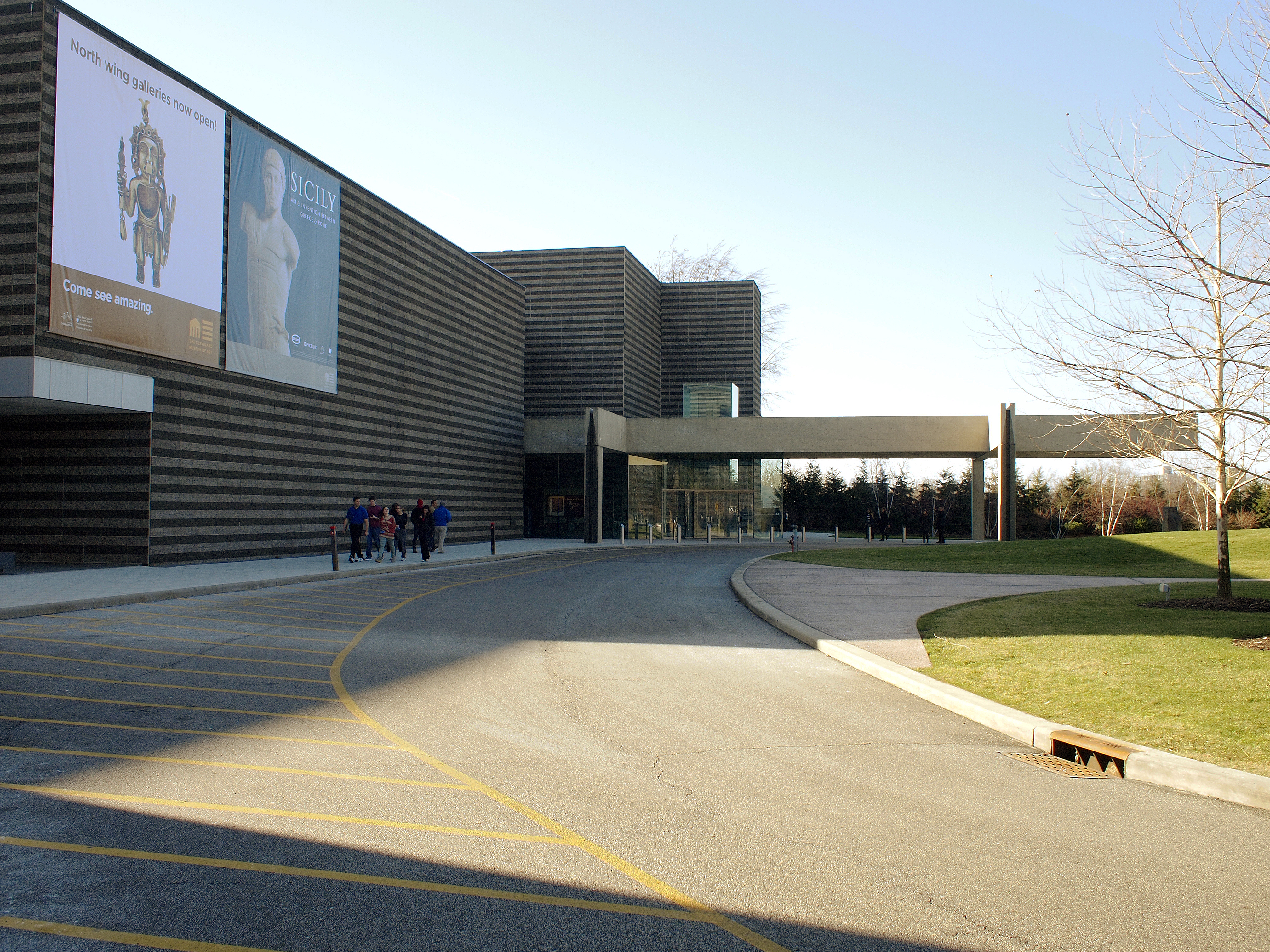 New wing and entrance of the Cleveland Museum of Art