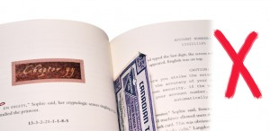 With time, ink will transfer and acids in book paper will damage the note
