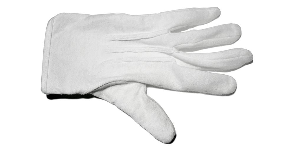 A white glove