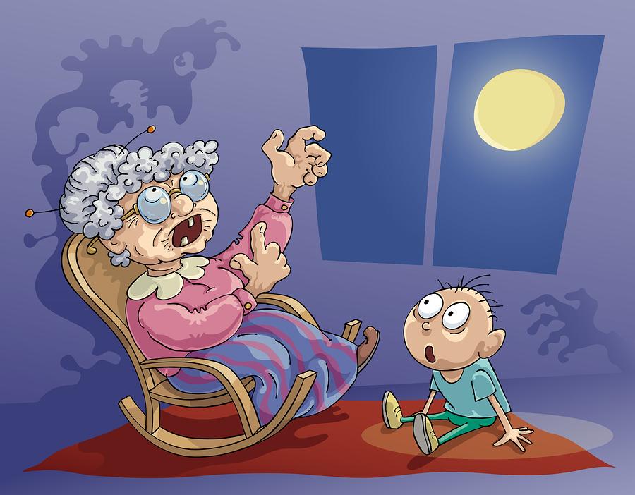 Telling ghost stories / Racontait d'effrayantes histoires de fantômes