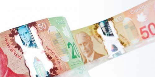 Polymer notes made by the Bank of Canada