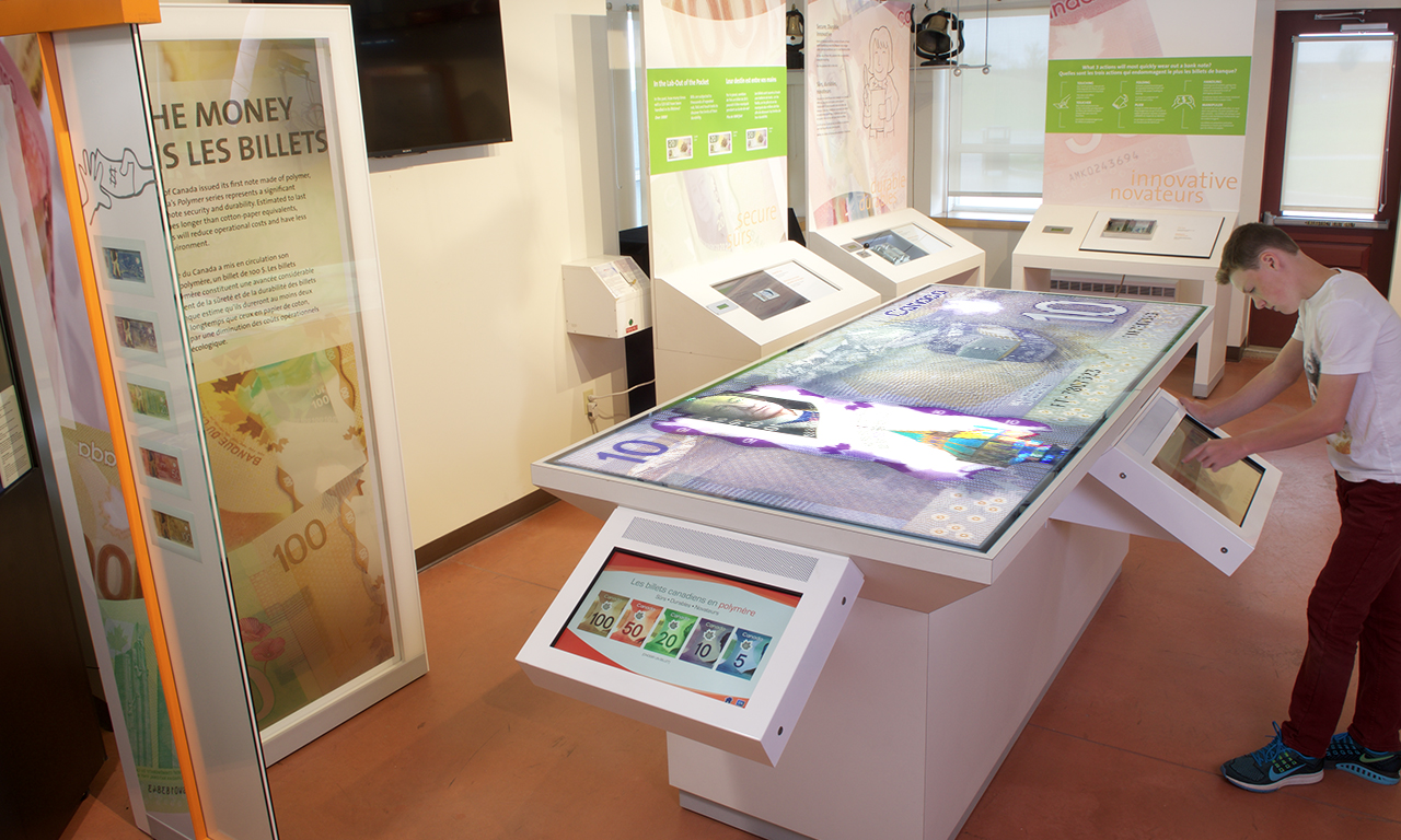 Museum exhibit, monitors