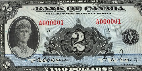 1935 The First Series The Bank Of Canada Museum