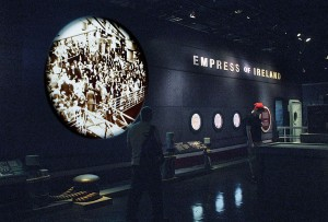 Entrance to the exhibition proper, cross the gangplank and board the Empress