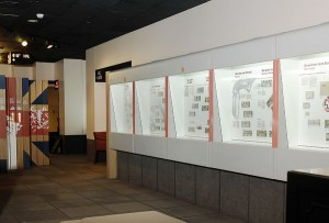 the old Currency Museum's Gallery 4, with showcases and artifacts