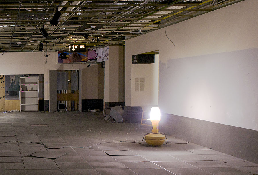 the old Currency Museum's Gallery 4, gutted for demolition