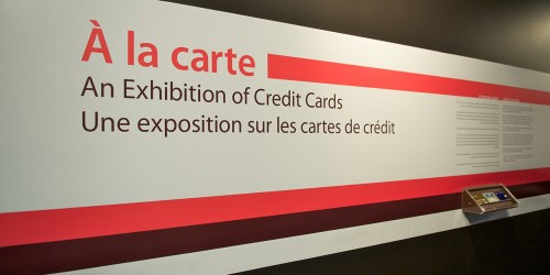 Exhibition title panel