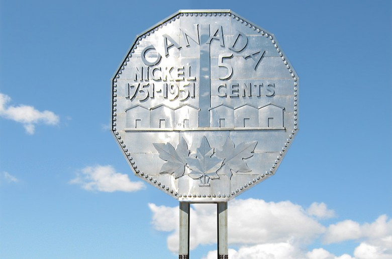 Giant replica of a coin