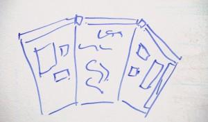 Whiteboard sketch