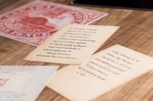 Enlarged postage stamp