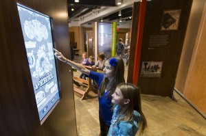Children at touch panel