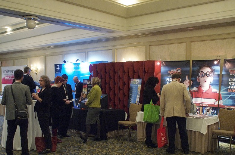 People and tradeshow booths