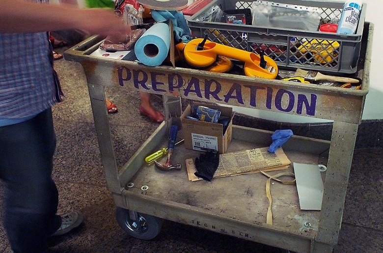 A cart full of tools