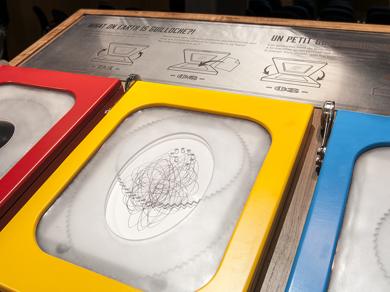 A machine for drawing patterns