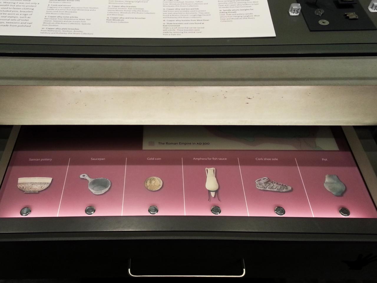 Drawer of artifacts