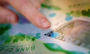 Bank note detail