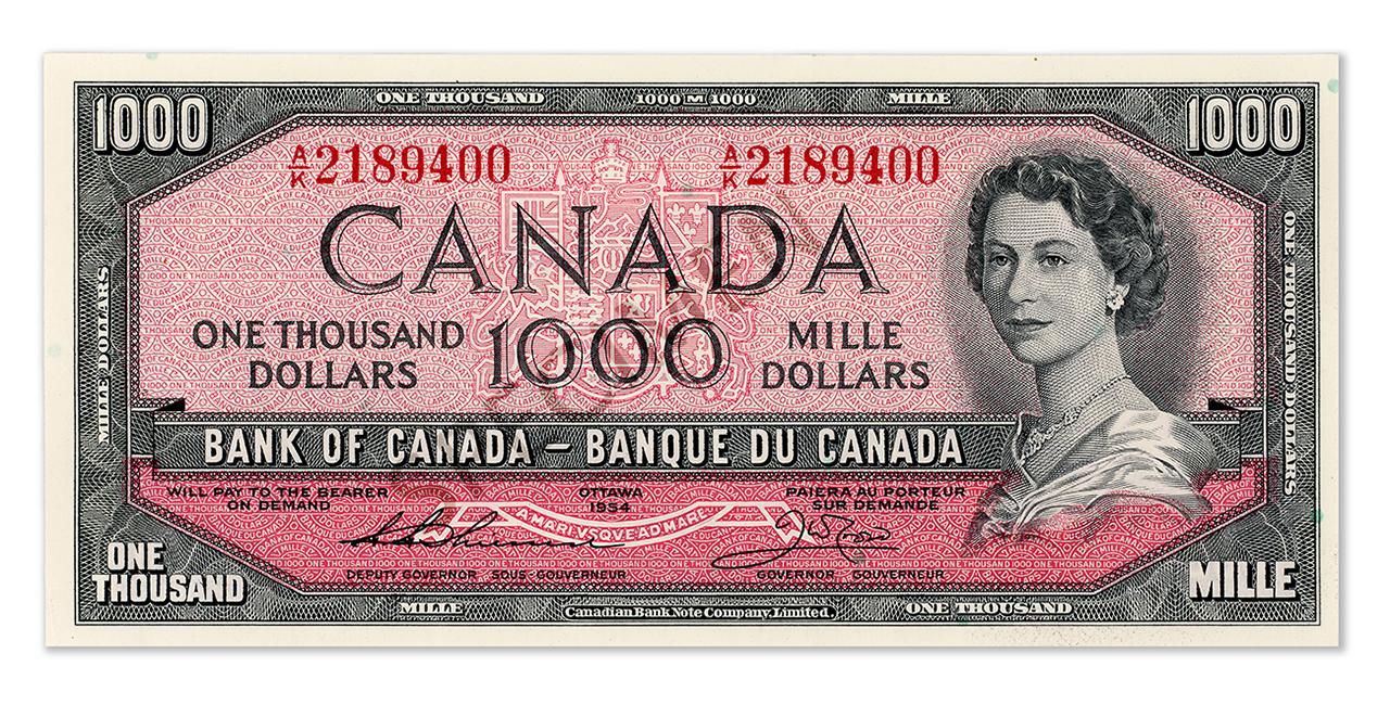 $1,000 bill face