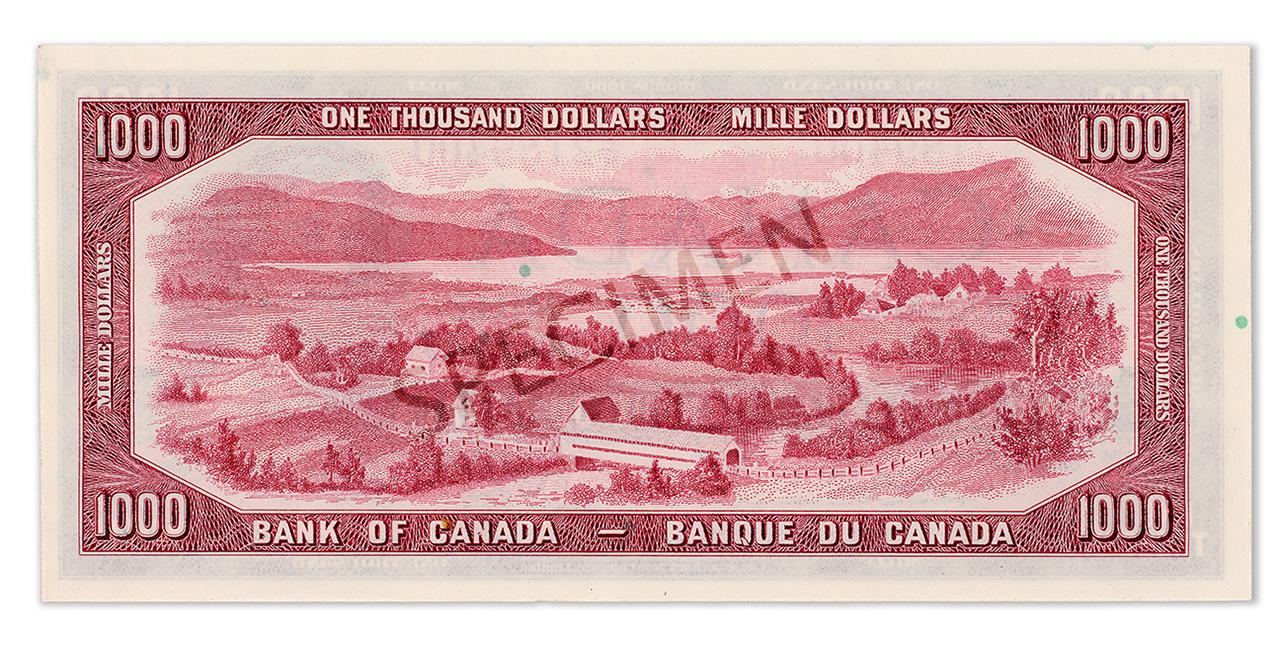 $1,000 bill back