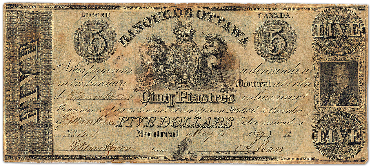 Old bank note