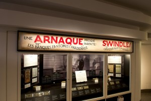 Exhibition title sign