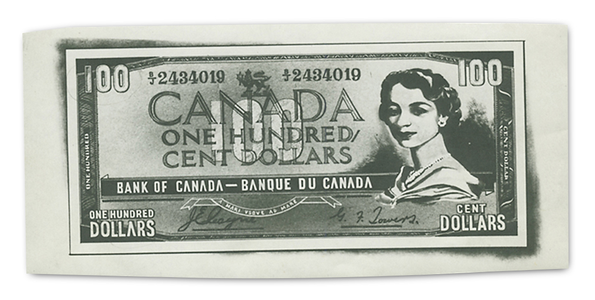 Sketch of a $100 bill front