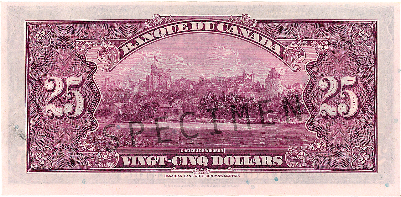 Bank note back