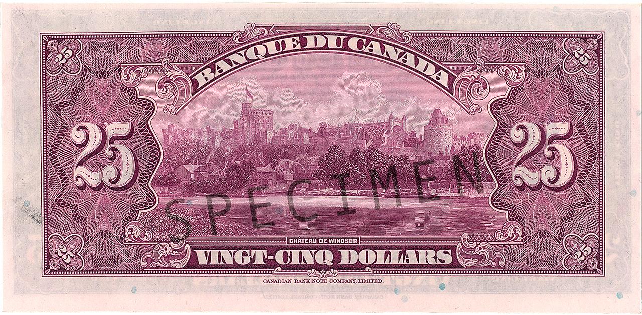 Bank note back